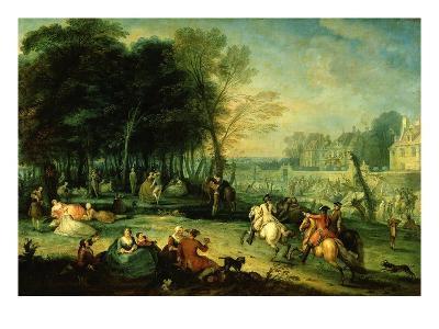 La Foire De Bezons (Fair in Bezons, Val D'Oise, France) (Exhibited 1725)