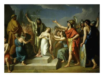 Pyrrhus 319-272 BC King of Epirus Killing Polyxena on Tomb of Father Priam King of Troy 1793