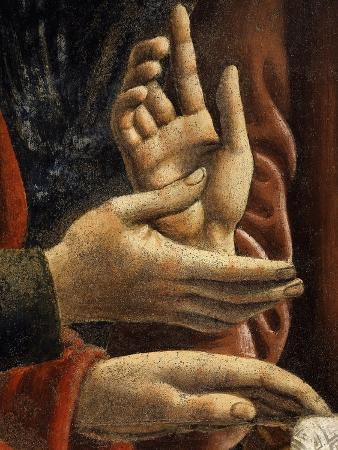 Hands of Saints Matthew and Philip, from the Last Supper, Fresco C.1444-50 (Detail)