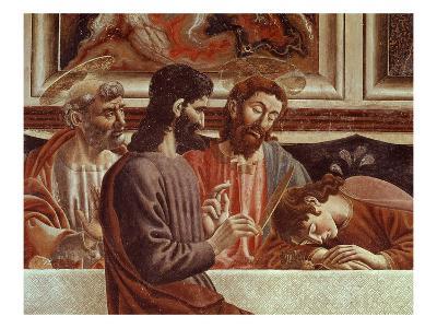 Judas, with Saint Peter, Christ Abd Saint John, from the Last Supper