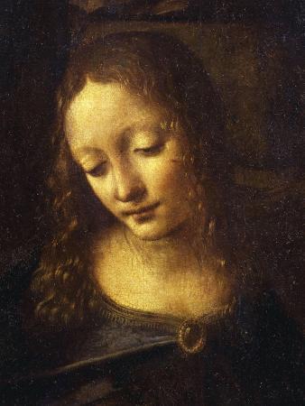 Virgin, from the Virgin of the Rocks, 1483-86, Detail