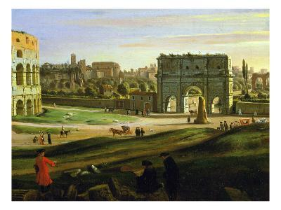 Triumphal Arch, View of the Colosseum and the Roman Forum (Inv 884), Detail