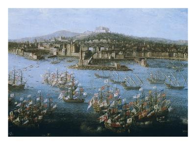King Charles III of Spain's Naval Fleet at Naples, Italy, October 6, 1759