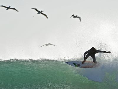 Surfing at Playa Grande, Within Las Baulas National Park