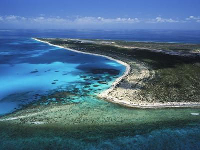 Aerial View of the Coral Barrier Reef Just Off Grand Turk Island