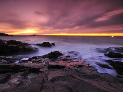 Early Morning Surf Surges Through the Rocks at the Thunder Hole