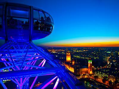 London Sky Line at Sunset from London Eye