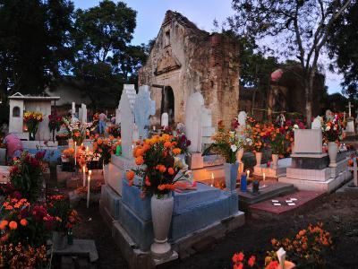 Xoxocotlan Graveyard on the Night of Day of the Dead