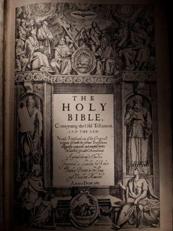 The Title Page of an Original King James Bible Dating from 1611