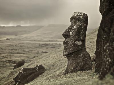 Moai on a Hill on Easter Island
