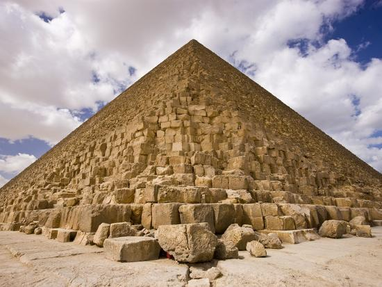 Great Pyramid of Giza, or Cheops Pyramid Photographic ...