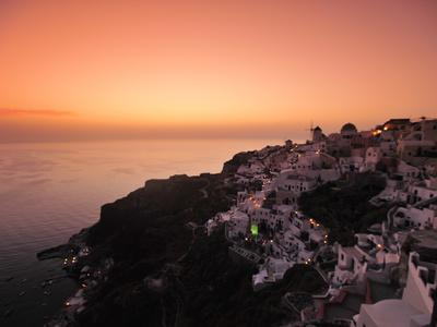 The Hillside Town of Oia at Dusk
