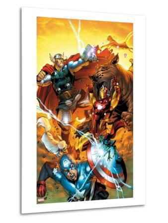 Avengers vs. Pet Avengers No.3 Cover: Captain America, Iron Man, Lockjaw, and Thor Fighting