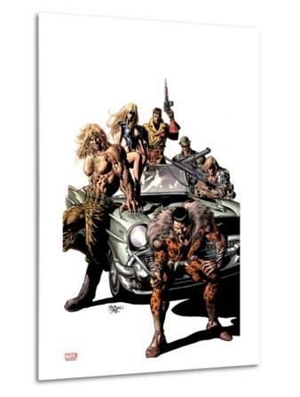 New Avengers No.10 Cover: Kraven the Hunter, Sabretooth, Dominic Fortune, Dum Dum Dugan, and Others
