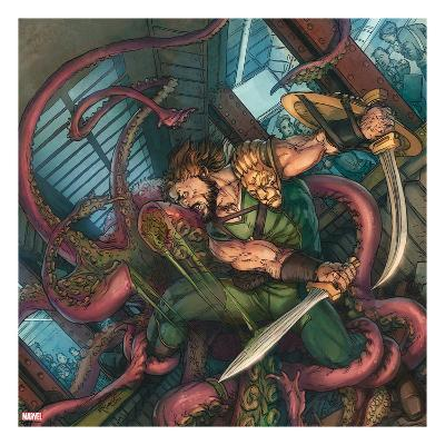 Herc No.4 Cover: Hercules Fighting and Slashing a Sea Monster