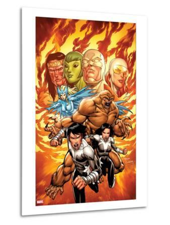 Chaos War: Alpha Flight No.1 Cover: Northstar, Aurora, Sasquatch, and Snowbird Charging