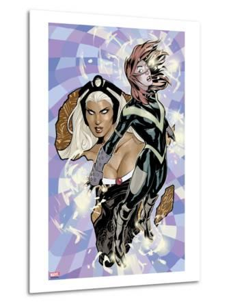 Uncanny X-Men No.528 Cover: Hope Summers and Storm Flying