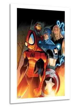 Ultimate Spider-Man No.151 Cover: Spider-Man, Captain America, Thor, and Iron Man Standing