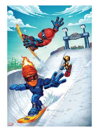 Marvel Super Hero Squad: Spider-Man, Human Torch, and Wolverine