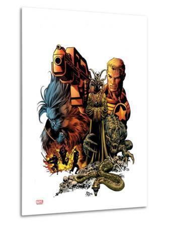 Secret Avengers No.8 Cover: Steve Rogers and Beast Posing