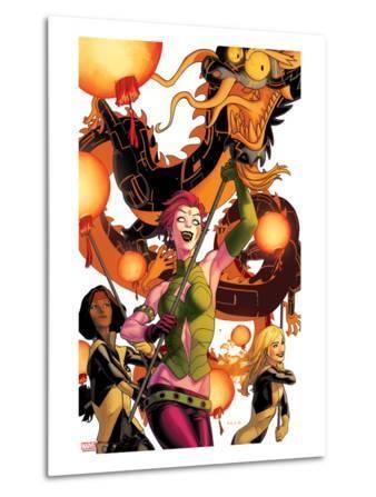New Mutants No.41 Cover: Blink, Moonstar, Magma, and Warlock