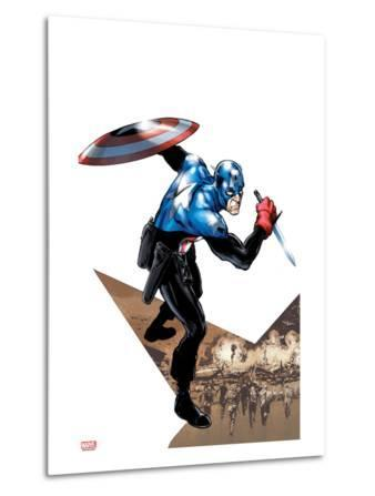Captain America Corps No.1 Cover: Captain America with Shield and Dagger