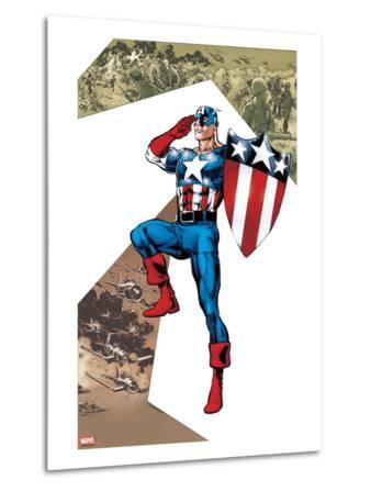 Captain America Corps No.2 Cover: Captain America Standing in Salute