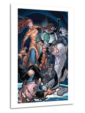 Young Allies No.5 Cover: Nomad, Gravity, Firestar, and Spider-Girl Fighting