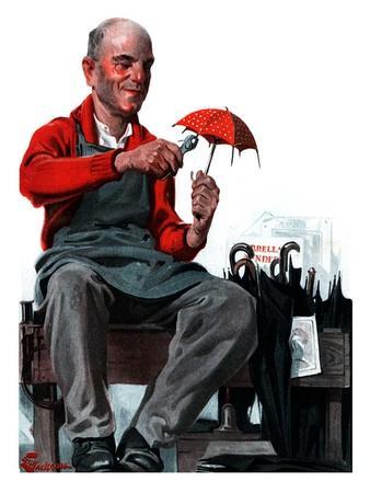 """""""Umbrella Repair Man,""""April 25, 1925"""