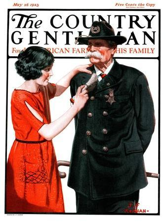 """""""Dusting Off Grandfather's Uniform,"""" Country Gentleman Cover, May 26, 1923"""