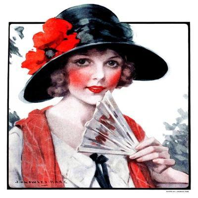 """Woman with Fan,""August 1, 1925"