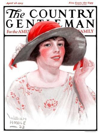 """Wide Brim Hat,"" Country Gentleman Cover, April 28, 1923"