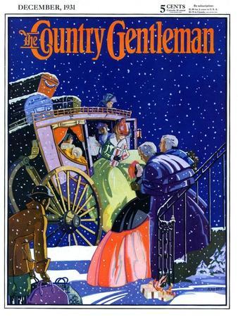 """Victorian Christmas Scene,"" Country Gentleman Cover, December 1, 1931"