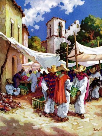 """Mexican Village Market,""June 1, 1938"