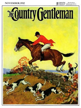 """Fox Hunter,"" Country Gentleman Cover, November 1, 1932"
