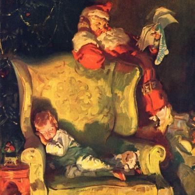 """""""Sleeping Through Santa's Visit,""""December 1, 1928"""