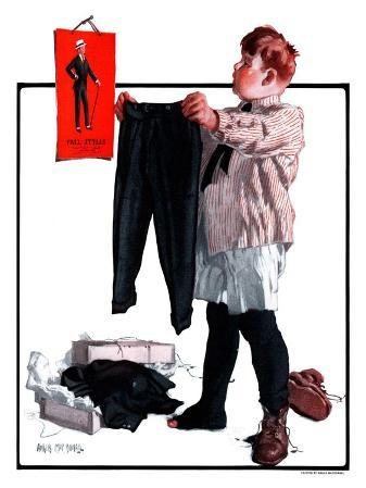 """""""First Pair of Long Pants,""""October 6, 1923"""
