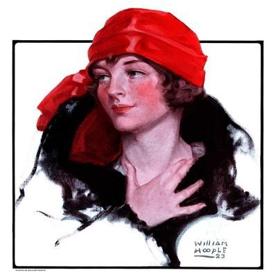 """""""Woman in Fur and Red Hat,""""October 13, 1923"""