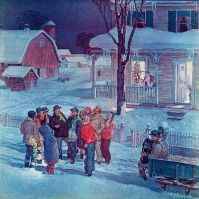 """Christmas Carollers,""December 1, 1945"