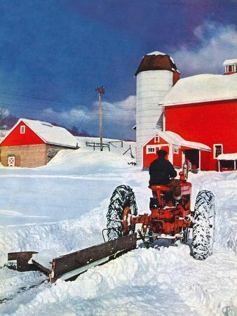 """""""Plowing Path to the Barn,""""January 1, 1947"""