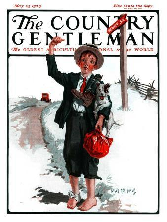 """""""Hitchhiking Boy,"""" Country Gentleman Cover, May 23, 1925"""