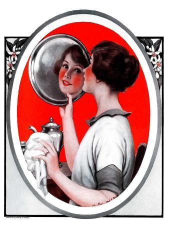 """""""Woman Reflected in Silver Tray,""""March 1, 1924"""