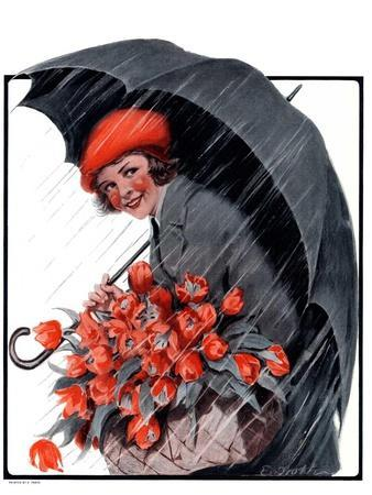 """April Showers and Basket of Flowers,""April 26, 1924"