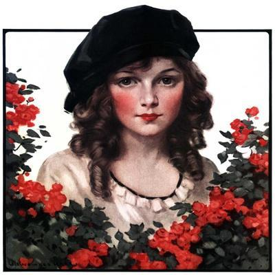 """""""Young Woman and Flowers,""""May 17, 1924"""
