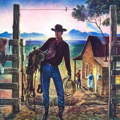 """Cowboy at End of the Day,""June 1, 1947"