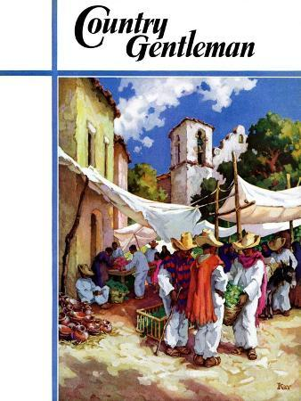 """""""Mexican Village Market,"""" Country Gentleman Cover, June 1, 1938"""