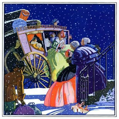 """Victorian Christmas Scene,""December 1, 1931"