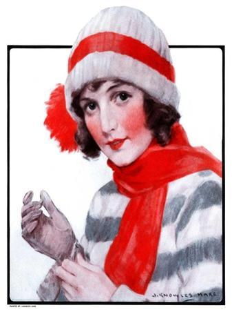 """""""Woman in Winter Wear,""""December 20, 1924"""