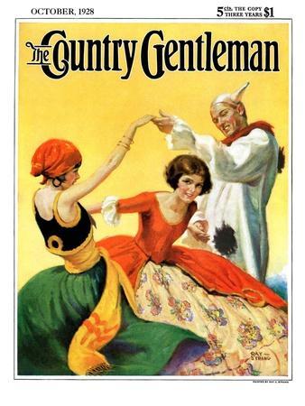 """""""Halloween Dance,"""" Country Gentleman Cover, October 1, 1928"""