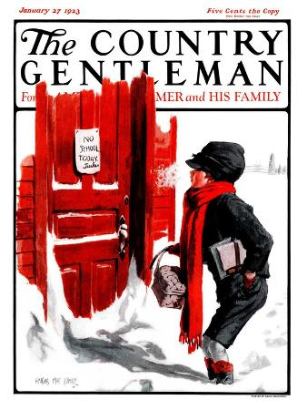 """""""No School Today,"""" Country Gentleman Cover, January 27, 1923"""